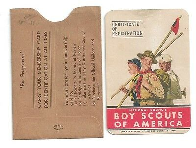 1950 Boy Scouts of America registration card BSA Poughkeepsie NY