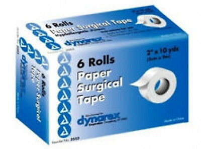 "Dynarex Paper Surgical Tape - 2"" x 10 yd - 6 ct"