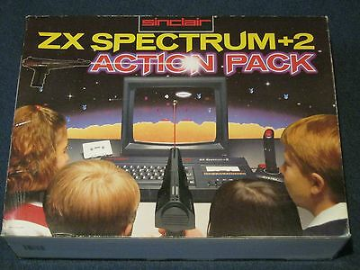 Sinclair ZX Spectrum 128k +2A Action Pack  Empty Box Only, Poly Inserts, Manuals