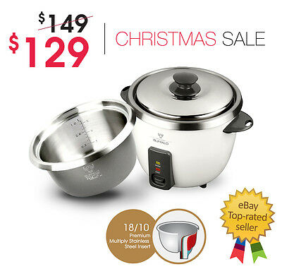 BUFFALO Small Stainless Steel Rice Cooker (5 cups)