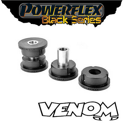 Powerflex Black Rear Diff Front Mount Bushes Mitsubishi Evo 8 03-05 PFR44-120BLK