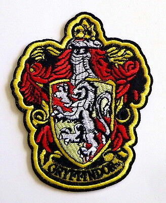 HARRY POTTER House of Gryffindor Large Crest Logo New Embroidered Iron-On Patch