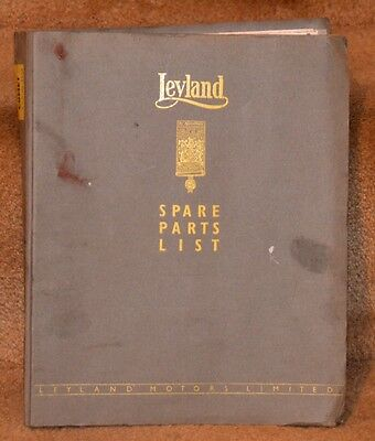 LEYLAND Spare Parts List - For Leyland Lorry (Comet Chassis)