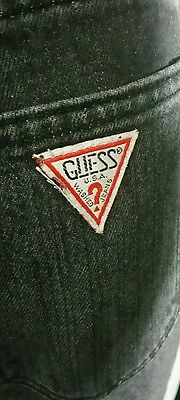Vintage Guess Marciano Black Jeans Size 30 High Waisted Mom Denim 80's