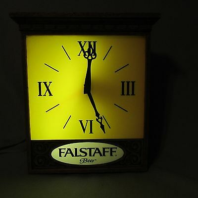 VINTAGE BEER SIGN FALSTAFF BEER CLOCK LIGHTED  BREWERY Christmas Gift