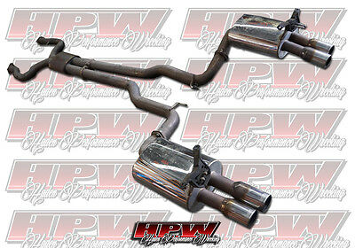 "Stainless steel XFORCE Twin 3"" VE VF SS SSV Sedan wagon exhaust system cat back"