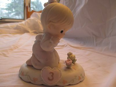 Precious Moments GROWING IN GRACE Age 3 Blonde Figurine 136220B - EUC