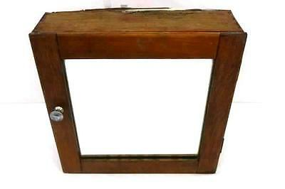 Antique Medicine Cabinet - Shabby French Chic Vtg Primitive Mirrored Display