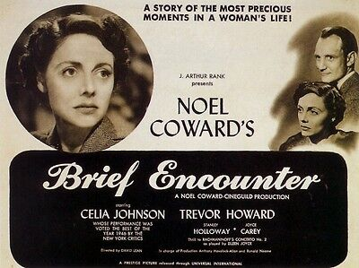 """Brief Encounter 1945 16"""" x 12"""" Reproduction Movie Poster Photograph"""