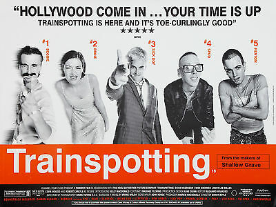 """Trainspotting 1996 16"""" x 12"""" Reproduction Movie Poster Photograph"""