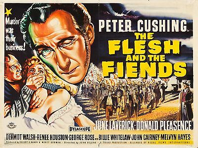 """Flesh and the Fiends 16"""" x 12"""" Reproduction Movie Poster Photograph"""