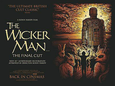 """The Wicker Man 16"""" x 12"""" Reproduction Movie Poster Photograph"""