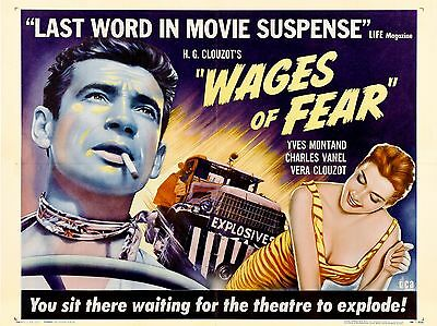 "Wages of Fear 16"" x 12"" Reproduction Movie Poster Photograph"
