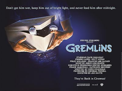 """Gremlins 16"""" x 12"""" Reproduction Movie Poster Photograph"""