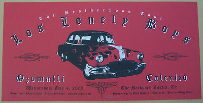 2005 Los Lonely Boys Calexico Ozomatli Backyard Austin Gig Poster s/n Perkins
