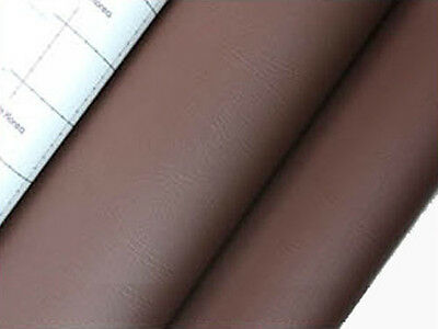 brown adhesive faux leather upholstery vinyl fabric car interior seat cover 1yd