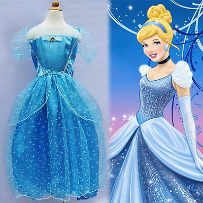 Disney Princess Cinderella Storybook Girls Fancy Dress Costume One Size Age 8-13