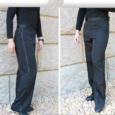 Men's Ballroom Latin Salsa Dance Pants Smooth Competition Practice Trousers New
