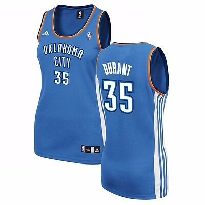 the best attitude 2ef4b 1d1a2 KEVIN DURANT ADIDAS Oklahoma City Thunder Official Blue Replica Jersey  Women's