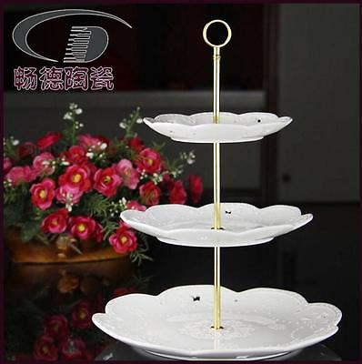 Cake Plate Stand Cupcake Fittings Silver Golden Wedding Party