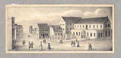 Helgoland - original Lithographie 1840 SELTEN!