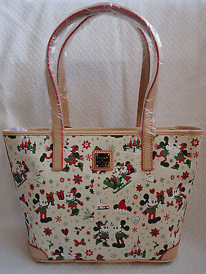 Disney Dooney & and Bourke Christmas Shopper Tote Bag Woodland Holiday In Hand 2