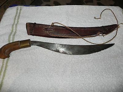 Antique Vintage Original Filipino Talibon Sword  Early 1900's Brass on Handle