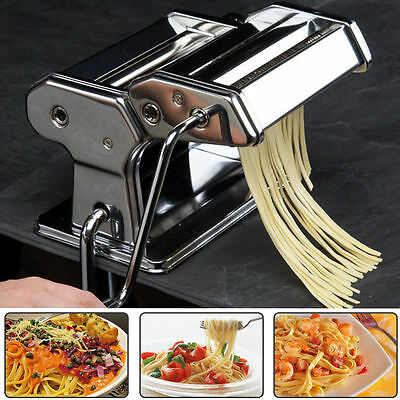 3 in 1 Pasta Machine Noodle Maker (Deluxe Quality - Stainless Steel)