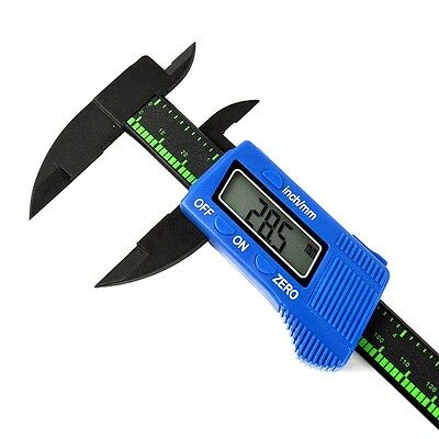 LCD Micrometer Digital Electronic Carbon Fiber Vernier Caliper Gauge 150mm 6inch