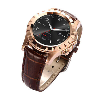 Waterproof Bluetooth Smart Watch IPS Heart Rate Camera for Android IOS Silver