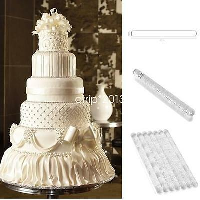 Patterns Acrylic Rolling Pin Cake Fondant Embossing Textured Baking Tools HYE120