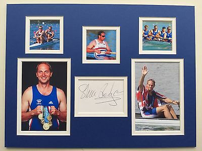 "Rowing Sir Steve Redgrave Signed 16""x12"" Double Mounted Picture Display"