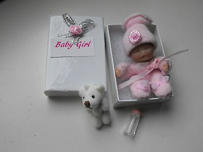 OOAK art  miniature Jointed 5.cm polymer clay Baby  doll by Carol