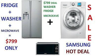 SAMSUNG COMBINATION : 690L FRIDGE + 10Kg WASHING MACHINE + MICROWAVE. SAMSUNG!!!