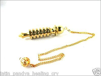 JET Quality 6 Plate Ring Brass Plated Metal Isis Pendulum Healing Dowsing A++
