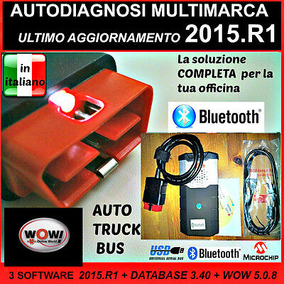 Autodiagnosi  Multimarca Universale Profess.  3 In 1  Bluetooth  + W.0.w 5.0.8