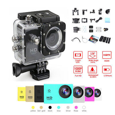 Mini SJ4000 1080P HD Sports DV Waterproof Action Camera Helmet Bike Cam New