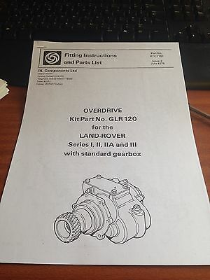 land rover fairey overdrive instruction manual series 88 109 over drive swb lwb