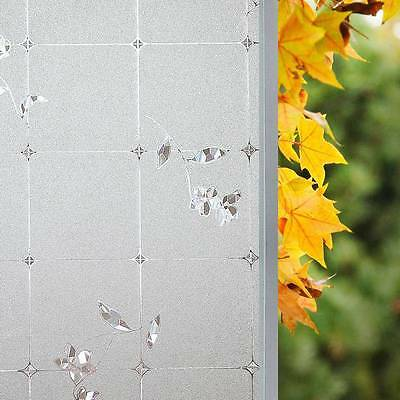 Privacy Window Film Waterproof 3D Frosted Sticker Static Cling Door Glass Decal