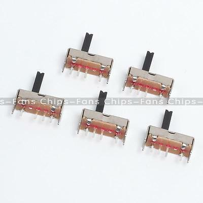 SS13D07 Slide Switch 1P3T 4Pin W/ Handle 6mm 3 position for DIY Electronic 10PCS
