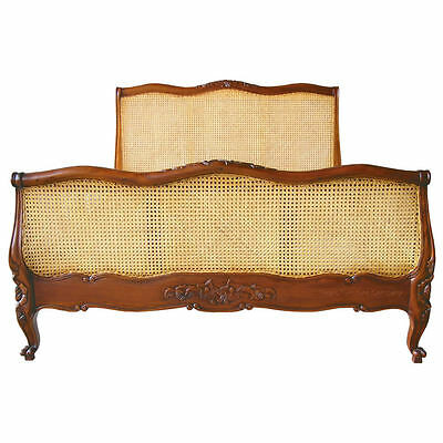 French Bed - Mahogany - Rattan - Bergere - Super King 6ft