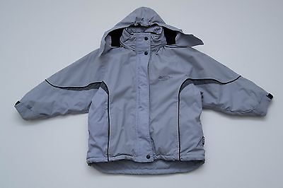 Girls Tog 24 Jacket Hooded Slightly Padded Light Blue Size 7 8 Years Excellent
