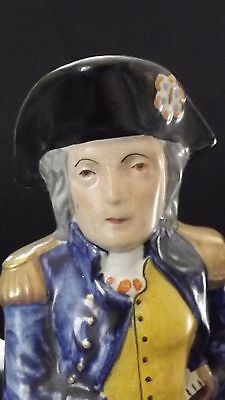ANTIQUE - RARE c. 1820 - 1830 s. ADMIRAL NELSON TOBY JUG / STAFFORDSHIRE POTTERY