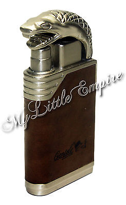 Windproof Jet Flame Butane Gas Refillable Torch Lighter Cobra Giftboxed
