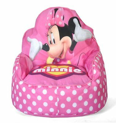 Disney Minnie Mouse Toddler Bean Bag Sofa Chair Lightweight New