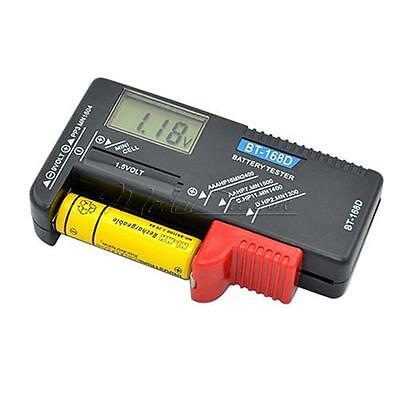AAA AA C D Battery Tester BT-168D 1.5V 9V Button Cell Rechargeable New