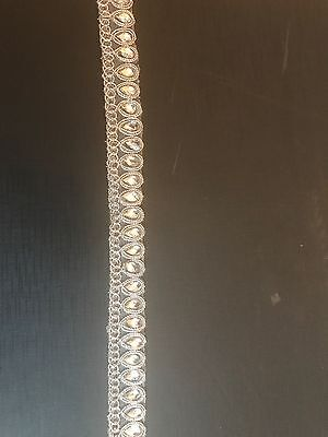 Full Roll Of Beaded Lace For Kameez Or Dupatta Sewing Crafts 8 Metres