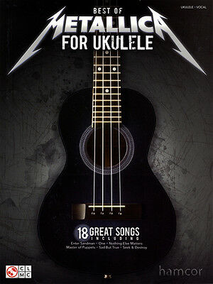 Best of Metallica for Ukulele TAB Uke Music Book with Chords & Vocals Metal Rock