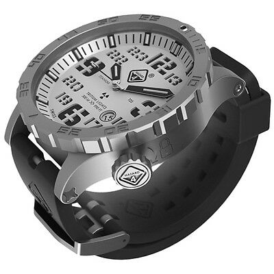 Hazard 4 Heavy Water Diver Watch Bead-Blasted White Dial Black Graphics BBRB