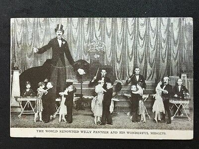 Vintage Circus Postcard - Willy Pantzer & His Wonderful Midgets Yarmouth 1934